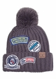 CC Knit Beanie Hat with Patches inset 2