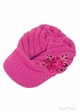 CC Knit Hat with Brim and Flower Applique inset 4