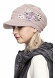 CC Knit Hat with Brim and Flower Applique inset 1