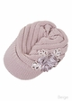 CC Knit Hat with Brim and Flower Applique inset 3