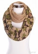 CC Knit Scarf with Camouflage inset 3