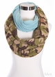 CC Knit Scarf with Camouflage inset 4