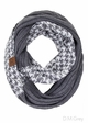 CC Knit Scarf with HoundsTooth design inset 3