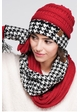CC Knit Scarf with HoundsTooth design inset 4