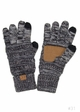 Charcoal Multi Color Knit Gloves from CC Brand inset 2