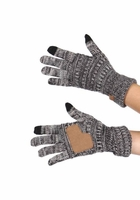 Charcoal Multi Color Knit Gloves from CC Brand