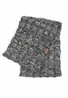 Charcoal Multi Color Knit Scarf from CC Brand