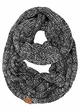 Charcoal Multi Color Knit Scarf from CC Brand inset 2