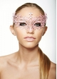 Chiara Colorful Masquerade Mask with Crystals inset 2