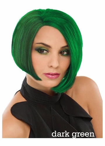 Chic Wig in Green and Neon Yellow