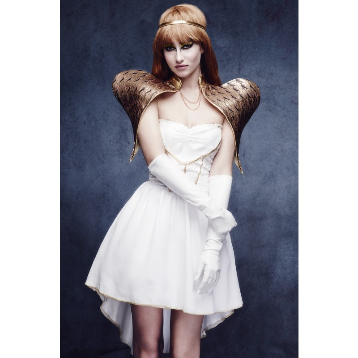 Christmas Angel Costume with Gold Couture Wings