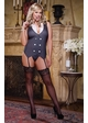 Classy Tux Lingerie Costume with Garter Top, Thong and Glasses inset 3