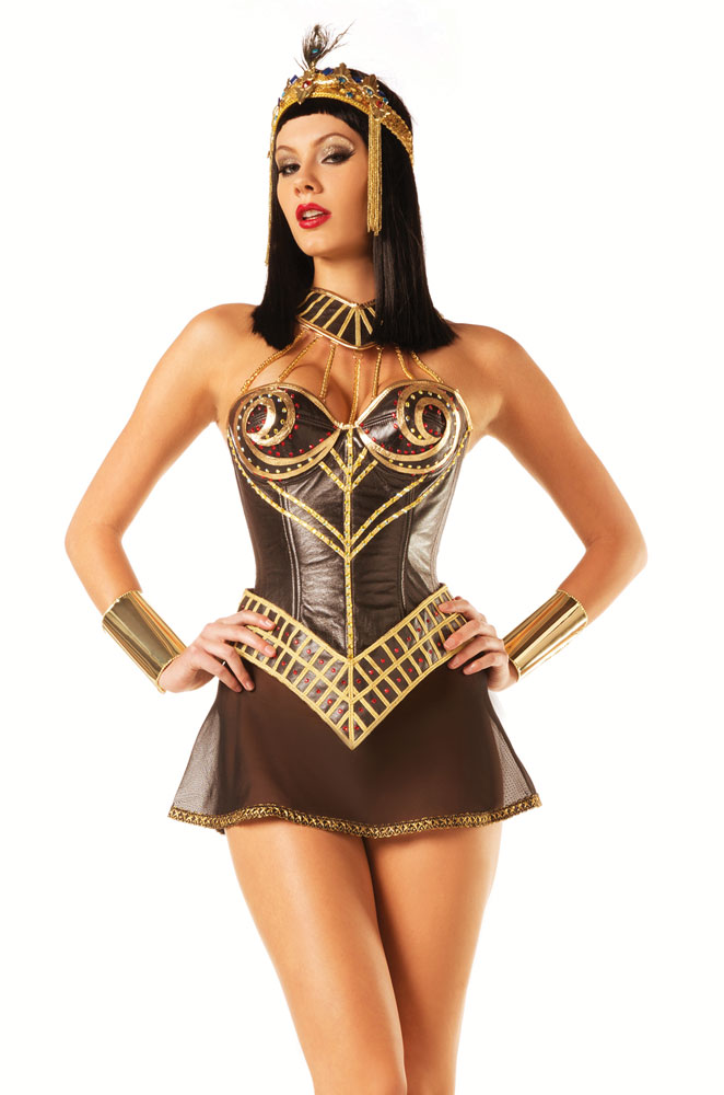 Cleopatra Warrior Corset Costume
