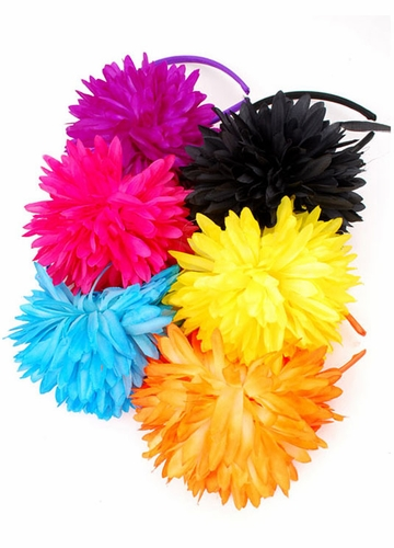 Color Impact Headband with Large Flower