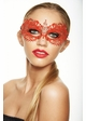 Colorful Angel Masquerade Mask with Clear Crystals inset 4
