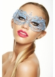 Colorful Angel Masquerade Mask with Clear Crystals inset 1