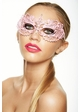 Colorful Angel Masquerade Mask with Clear Crystals inset 2