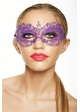 Colorful Angel Masquerade Mask with Clear Crystals inset 3