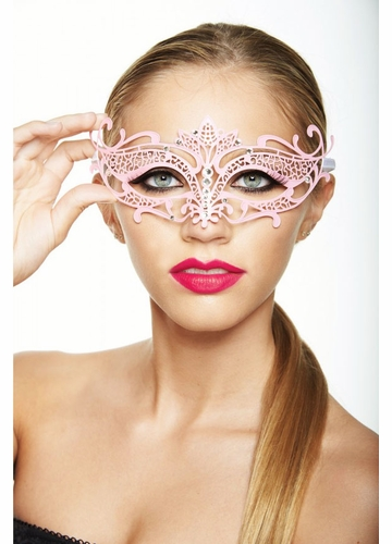 Colorful Goddess Masquerade Mask with Crystals