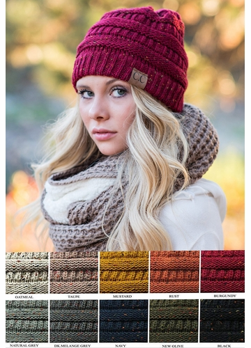 Confetti Knit Beanie Hat from Colorado Chick