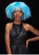 Cool Blue Textured Above the Shoulders Wig Zoey inset 1