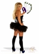 Corset Peacock Showgirl Costume with Mask and Skirt inset 3