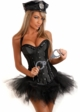 Corset Police Costume with Pettiskirt, Handcuffs, Hat, Badge and Thong inset 1