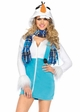 Cozy Snowman Fleece Halloween Costume inset 1