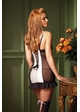 Cream and Black Mini Dress with Back Lacing inset 1