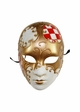 Creepy Doll Mask with Gold Swirl inset 1