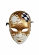 Creepy Doll Mask with Gold Swirl inset 2