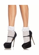 Crochet Hearts Ankle Socks with Lace Trim inset 1