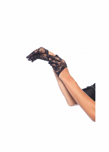 Cropped Lace Mini Gloves