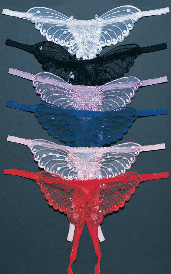 Crotchless Butterfly Panties