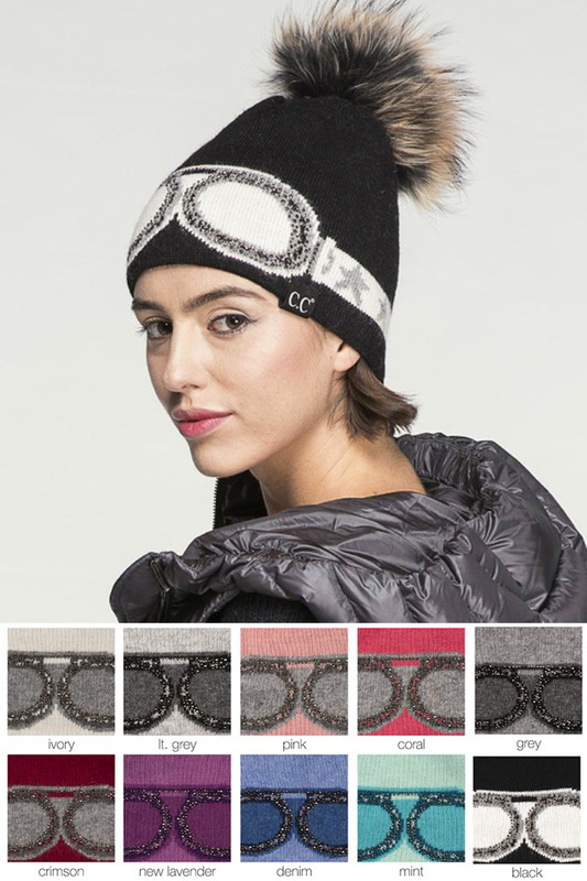f2159f2d65c655 Crystal Goggles CC Beanie Hat with Pom