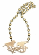 Crystal Jeweled Necklace with Victorian Style Sparrow Pendant inset 1