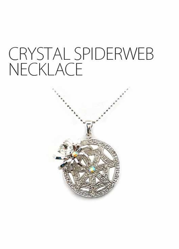 Crystal Spiderweb Necklace