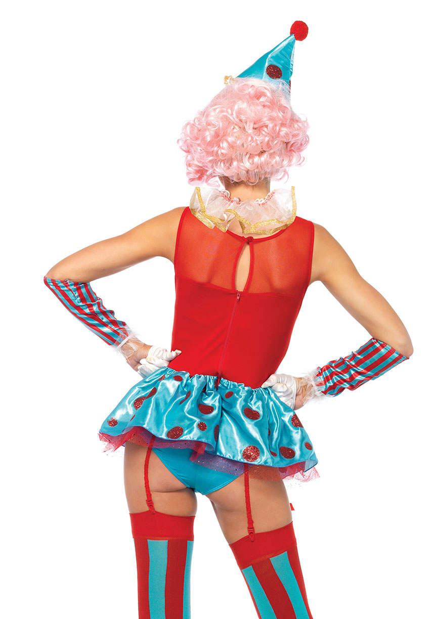 delightful circus clown halloween costume