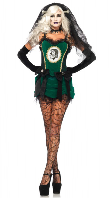 deluxe bride of frankenstein halloween costume from leg avenue