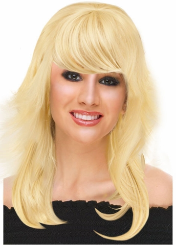 Deluxe Feathered Retro Wig in Blonde