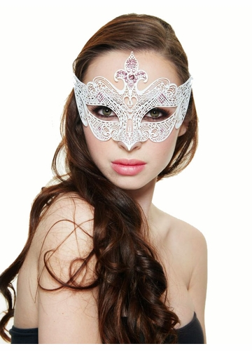 Desert Rose Masquerade Mask with Gems