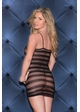 Diamond Stripe Net Mini Dress inset 1