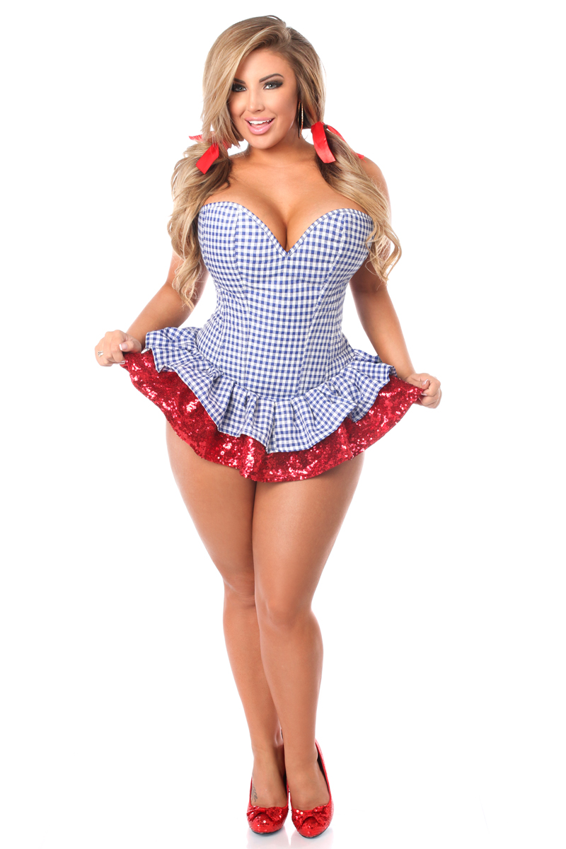 Dorothy Checkered Corset Costume Up To Size 6x