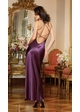 Dreamy Satin Sleep Gown with Sequin Lace and Thong inset 1