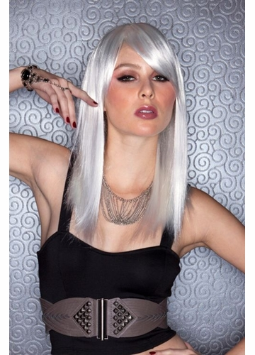 Edgy Chrome Medium Length Wig Fortune