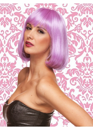 Edgy Page Style Wig in Lavender