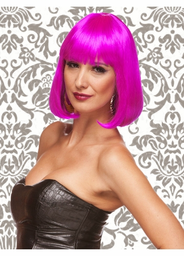 Edgy Page Style Wig in Magenta