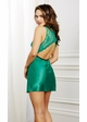 Emerald Satin and Lace Babydoll inset 1