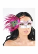 Eyes Have It Masquerade Mask with Peacock Feathers inset 2