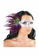 Eyes Have It Masquerade Mask with Peacock Feathers inset 3